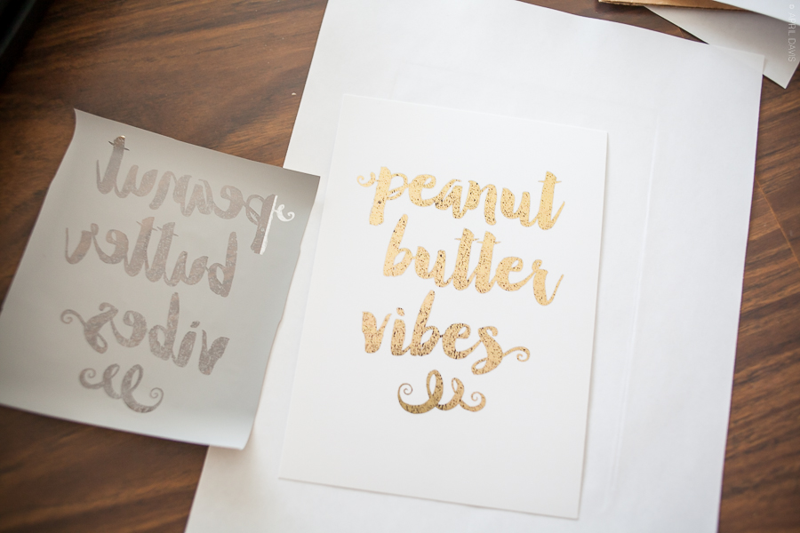 DIY GOLD FOIL LETTERING, Do-it-yourself gold foiling, vinyl lettering, printables