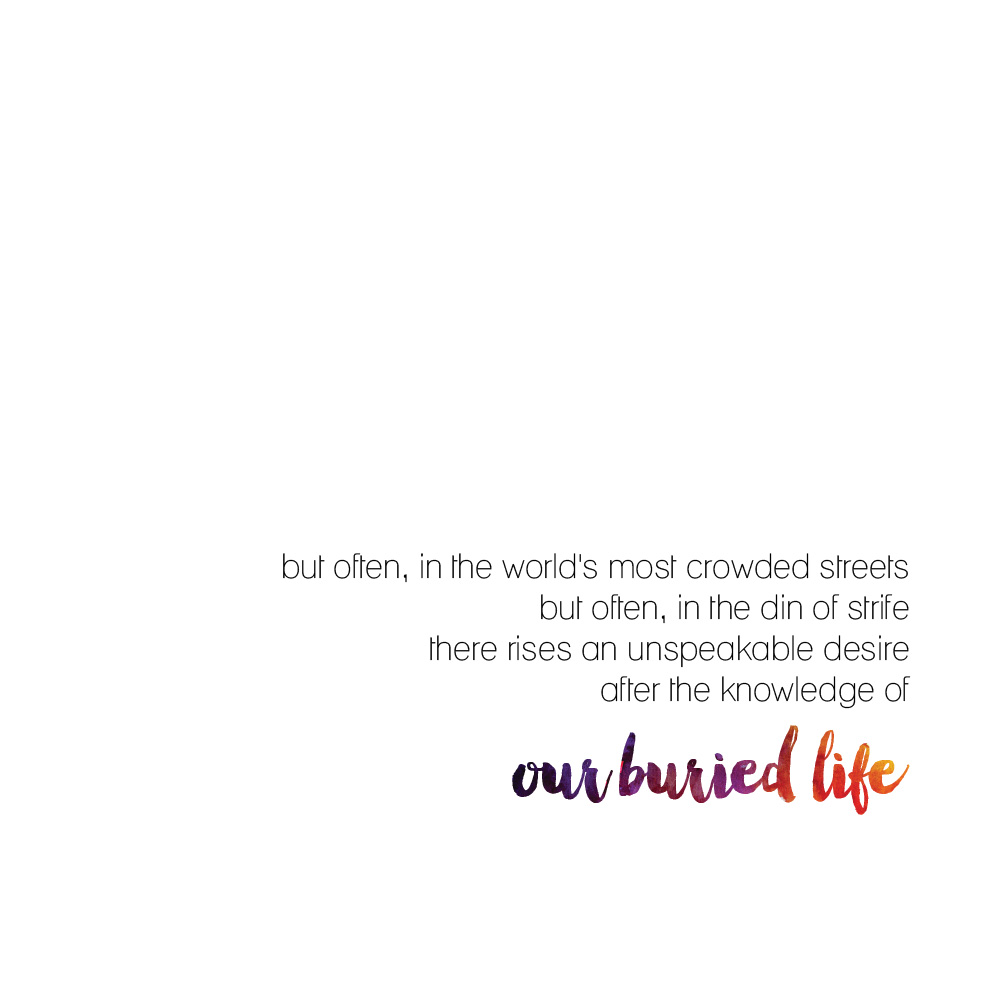 THE BURIED LIFE REVISTED