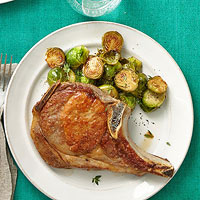Pork Chops and Brussel Sprouts