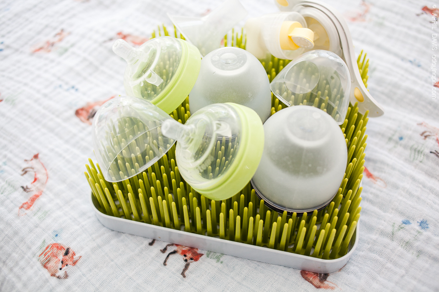 A dedicated drying rack for all of your bottles.
