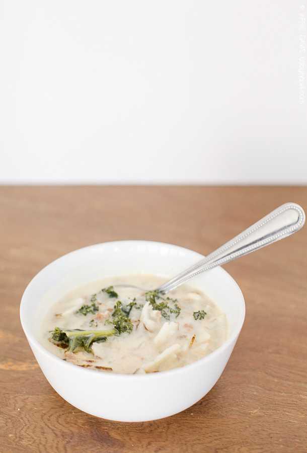 Easy to make sausage potato kale soup